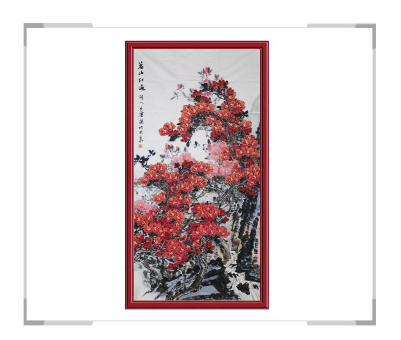 中国工笔画学会会员杨秀泽-竖幅花鸟作品一