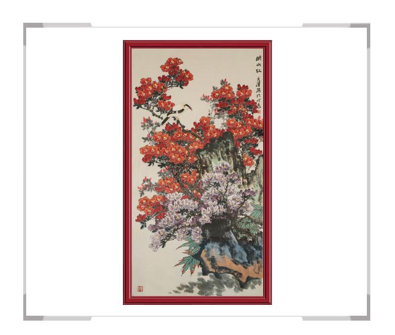 中国工笔画学会会员杨秀泽-竖幅花鸟作品二