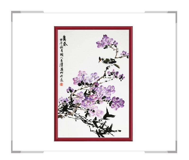 中国工笔画学会会员杨秀泽老师-竖幅花鸟画第二款