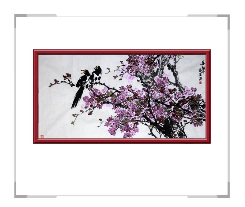 中国工笔画学会会员杨秀泽作品-横幅花鸟画第二款