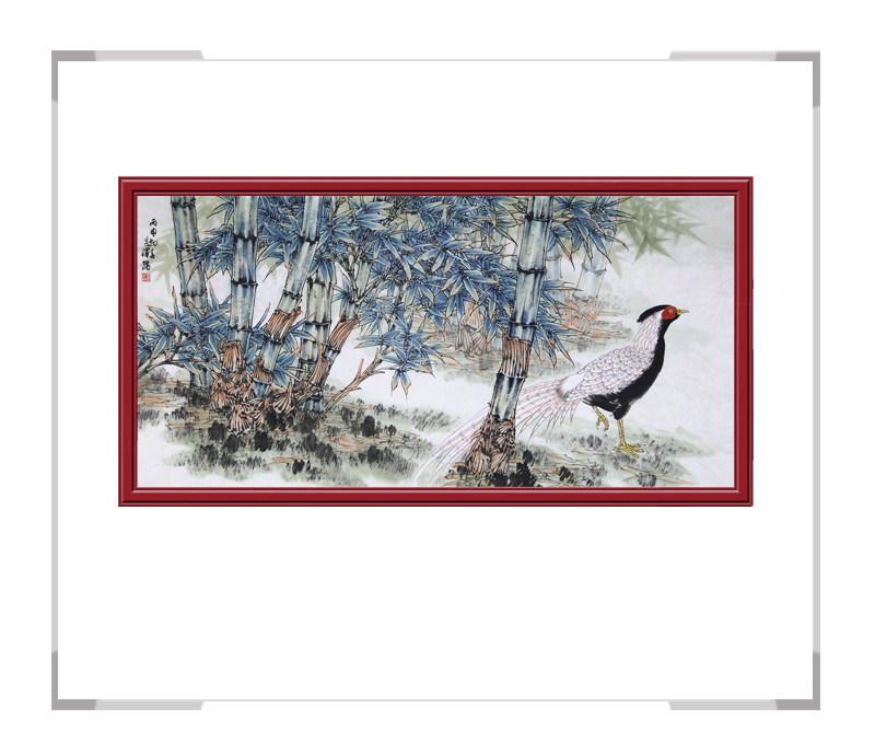 中国工笔画学会会员杨秀泽-花鸟作品横幅第一款