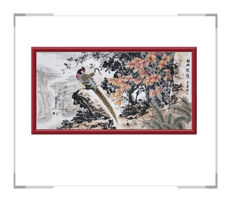 中国工笔画学会会员杨秀泽-花鸟作品横幅第二款