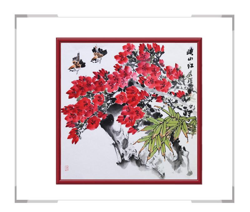 中国工笔画学会会员杨秀泽-斗方花鸟作品