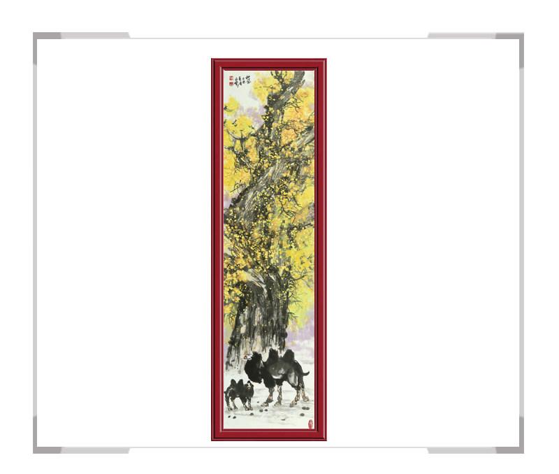 中国美术家协会会员杨永家作品-动物题材骆驼竖幅一
