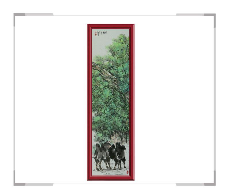 中国美术家协会会员杨永家作品-动物题材骆驼竖幅二