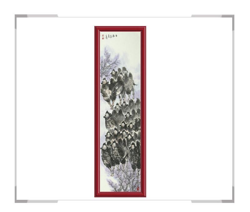 中国美术家协会会员杨永家-动物作品骆驼竖幅第二款