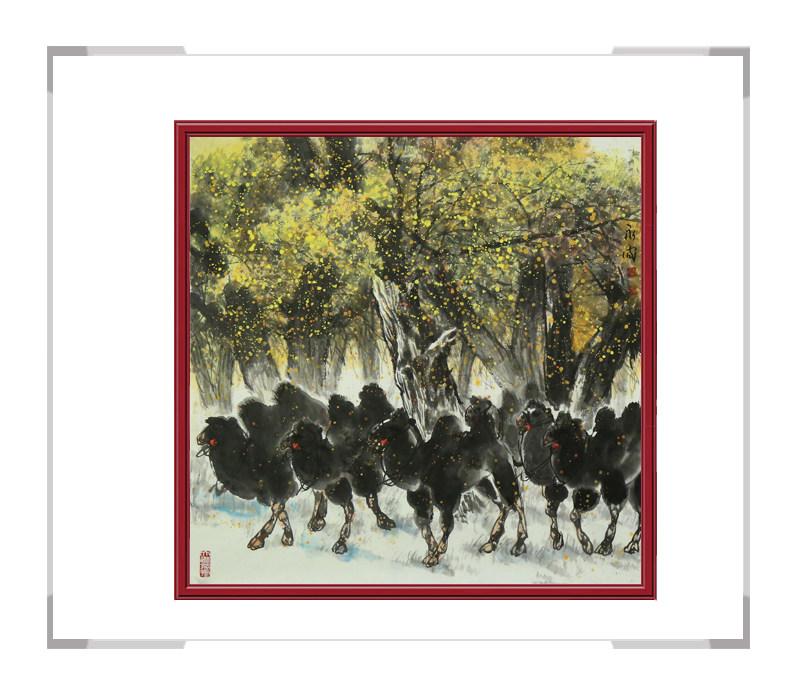 中国美术家协会会员杨永家-动物主题骆驼作品一
