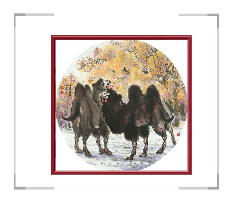 中国美术家协会会员杨永家-动物主题骆驼作品二
