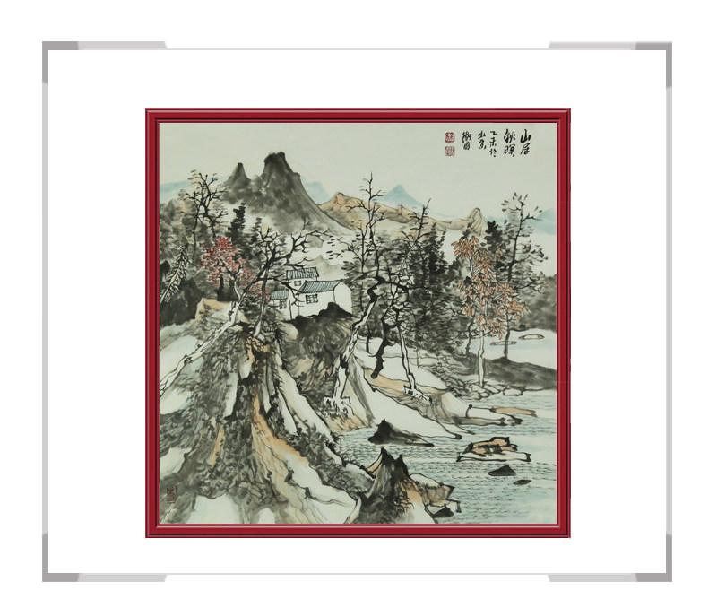中国美术家协会会员徐卫国-斗方山水画作品一