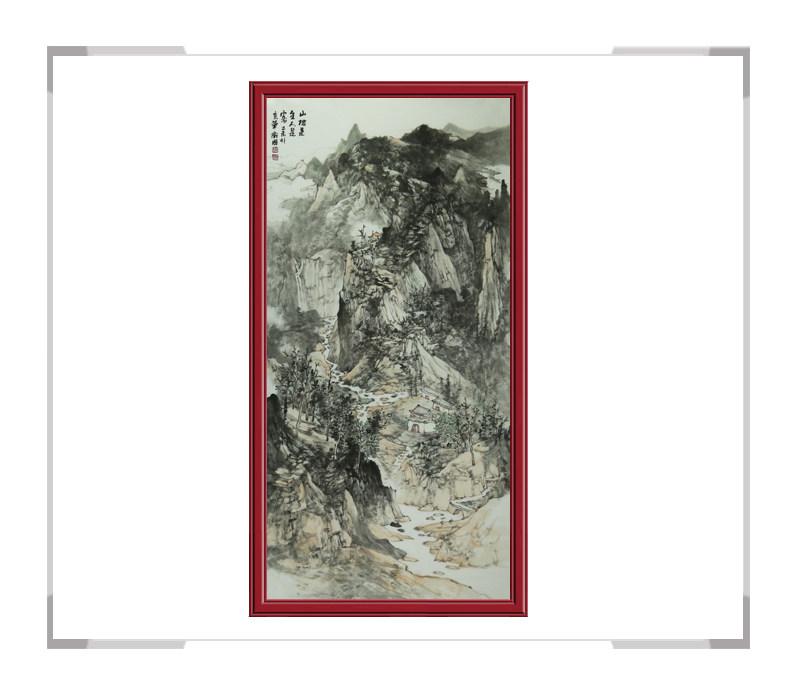 中国美术家协会会员徐卫国-竖幅山水作品一