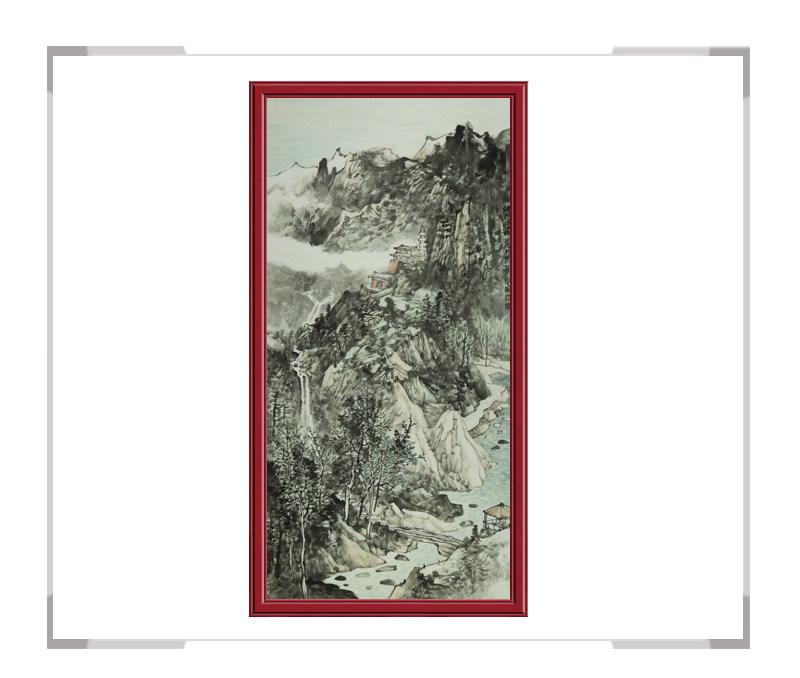 中国美术家协会会员徐卫国-竖幅山水作品二