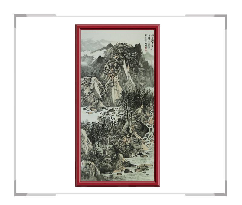 中国美术家协会会员徐卫国老师作品-竖幅山水画