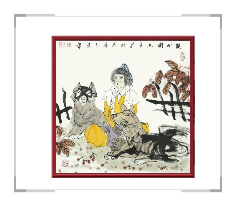 中国美术家协会理事于志学老师作品-人物画斗方第二款