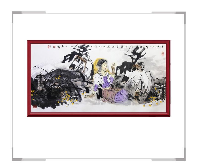 中国美协理事于志学作品-横幅美女人物画第一款