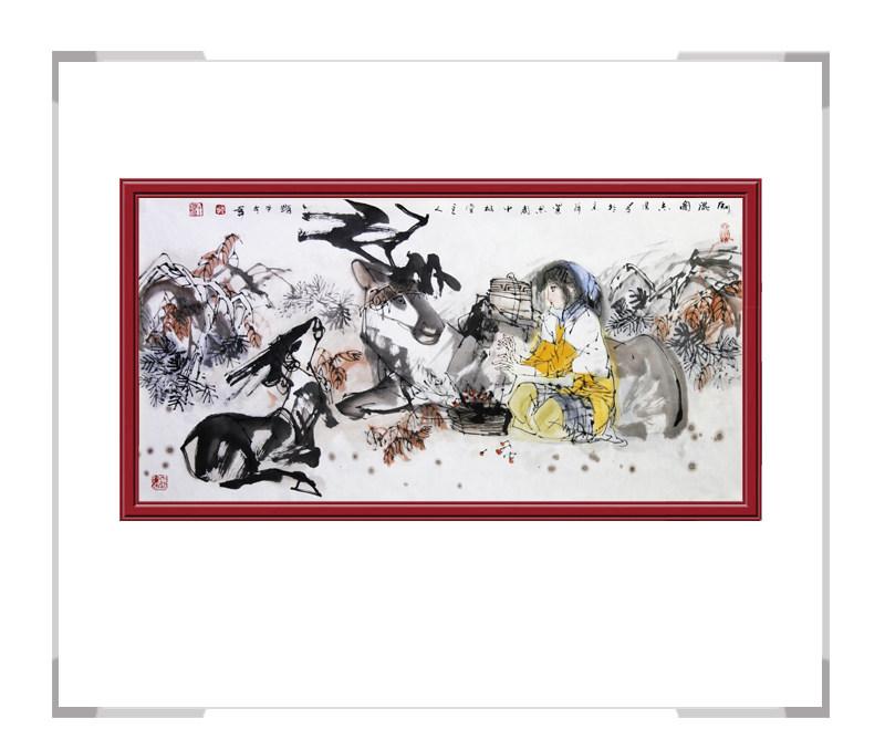 中国美术家协会理事于志学-横幅美女人物作品一