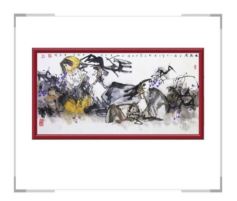中国美术家协会理事于志学-横幅美女人物作品二