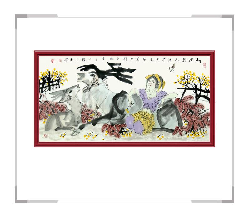 中国美术家协会理事于志学老师-横幅美女人物画第一款