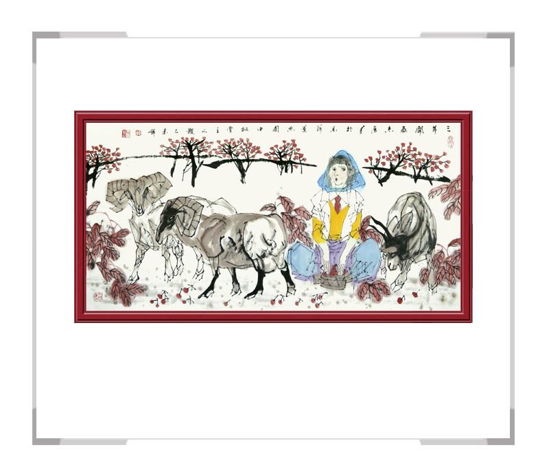 中国美术家协会理事于志学老师-横幅美女人物画第二款