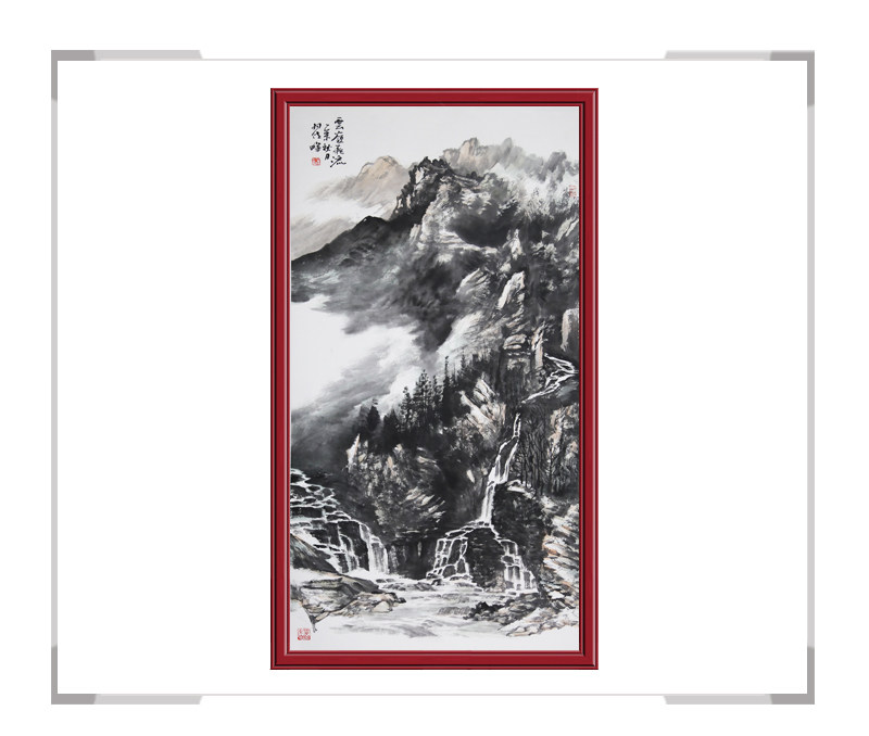 中国美协会员翟晖作品-竖幅山水画第二款
