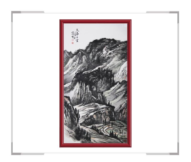 中国美术家协会会员翟晖老师-竖幅山水作品一