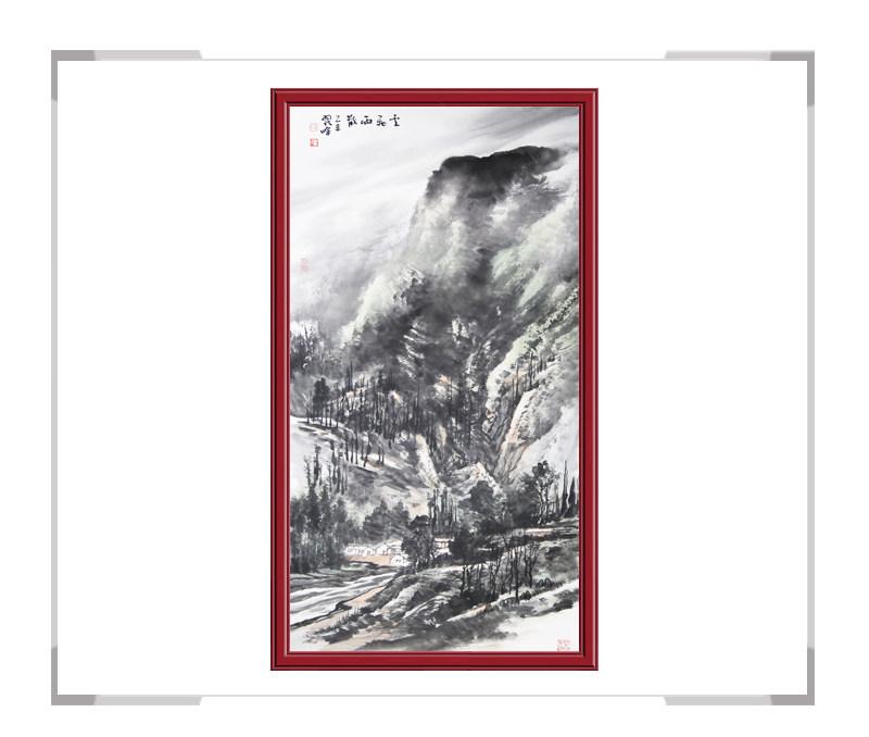 中国美术家协会会员翟晖老师-竖幅山水作品二