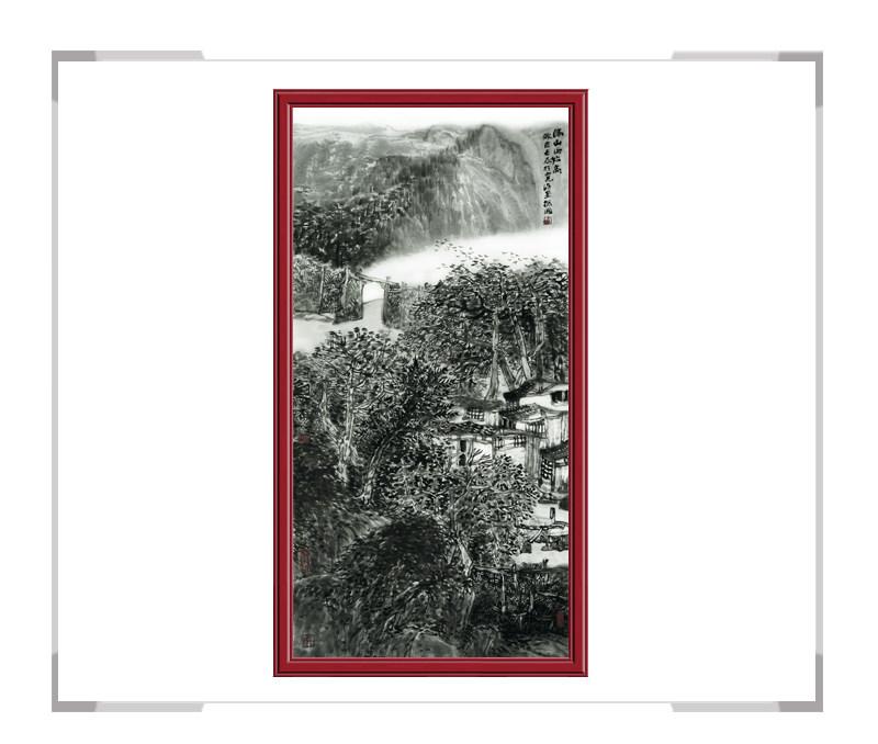 中国美术家协会理事程振国老师作品-竖幅山水画二
