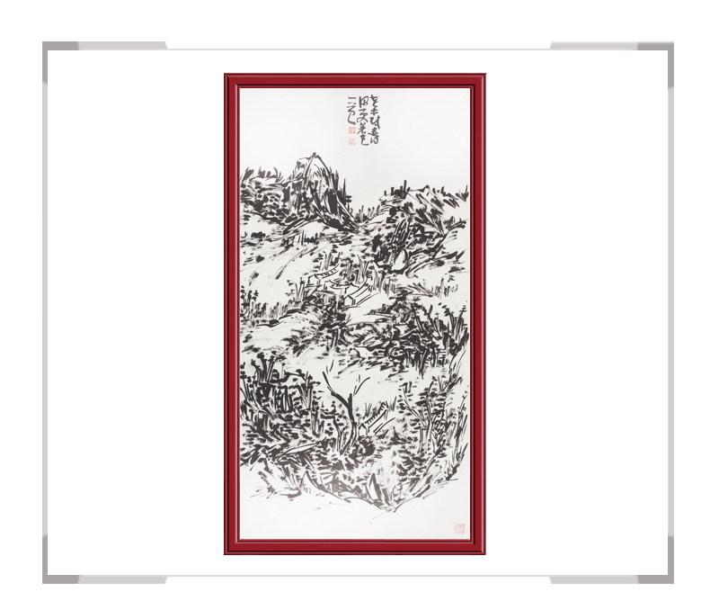 中国美术家协会会员初中海作品-山水画竖幅