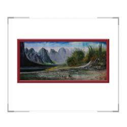 中国书画研究院常务副院长黄建南油画作品-横幅风景画