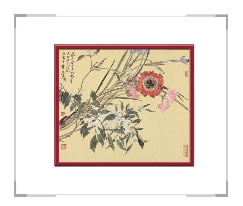 中国美术家协会会员贾广健-斗方花鸟画