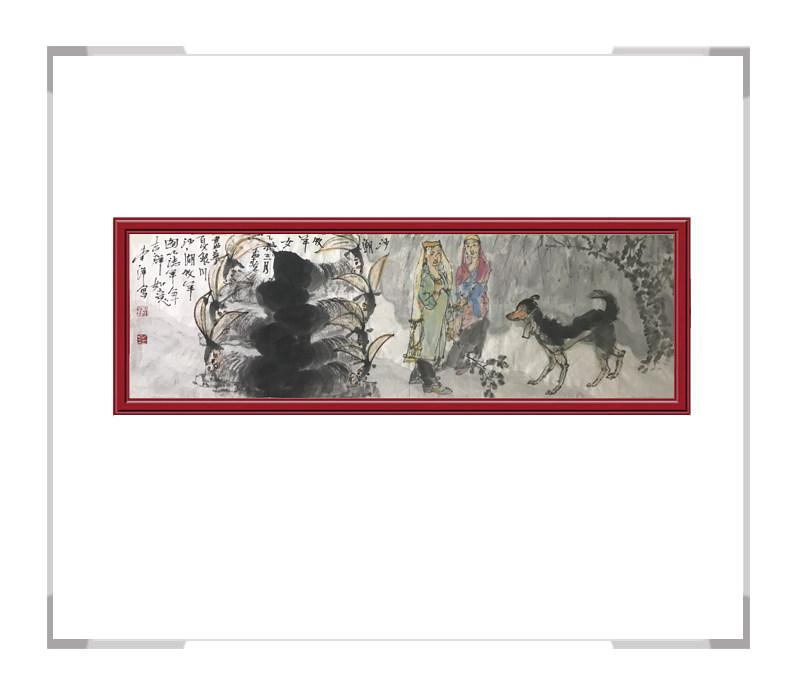 中国美术家协会会员李洋作品-游牧美女人物画第一款