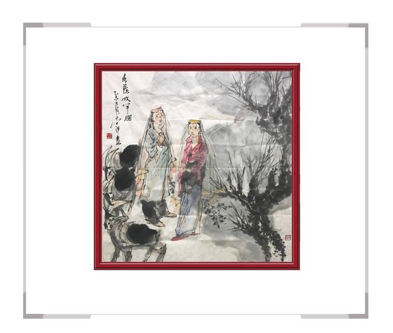 中国美术家协会会员李洋作品-游牧美女人物画第二款