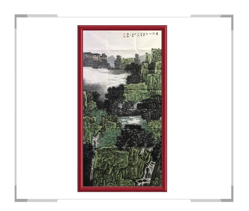 中国美术家协会会员满维起-山水画竖幅作品一