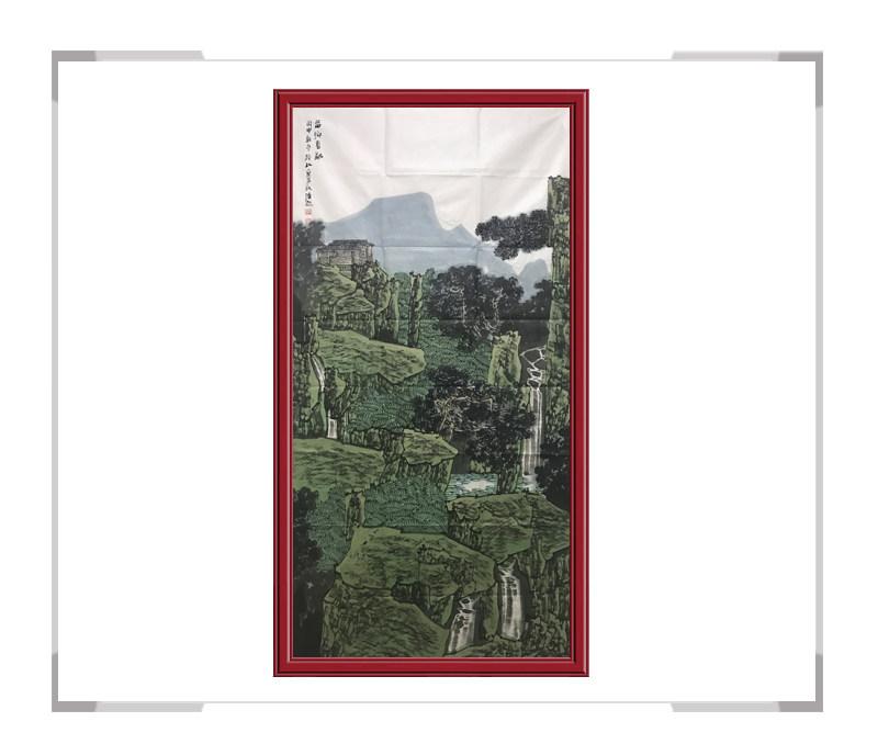 中国美术家协会会员满维起-山水画竖幅作品二