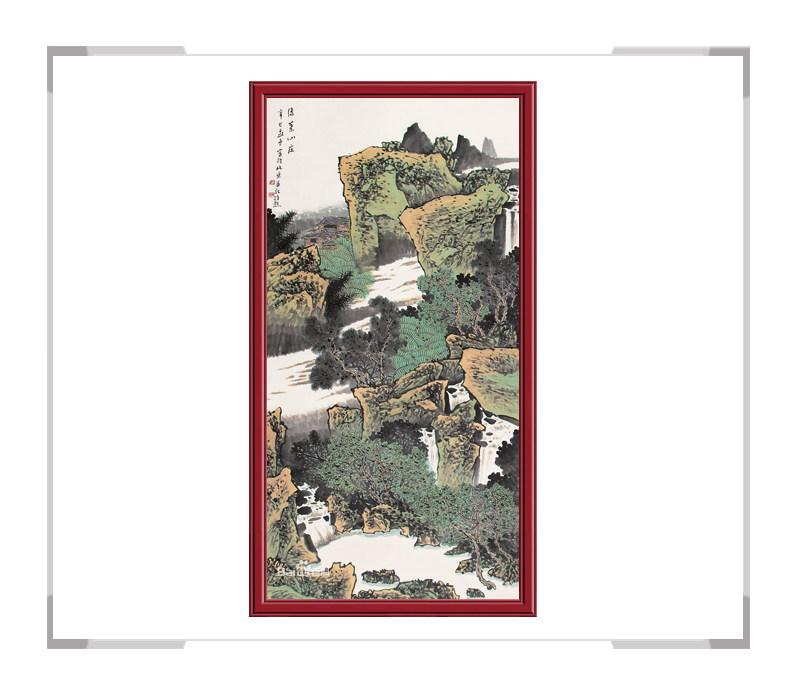 中国美术家协会会员满维起作品-竖幅山水画一