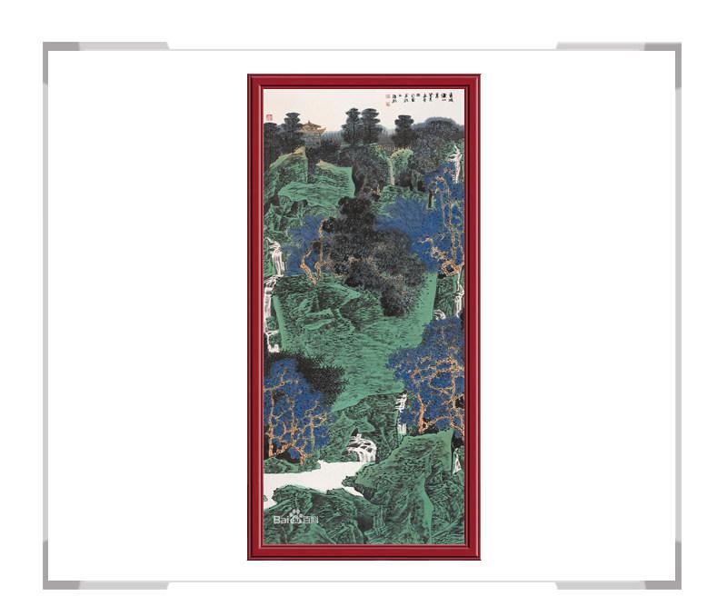 中国美术家协会会员满维起作品-竖幅山水画二