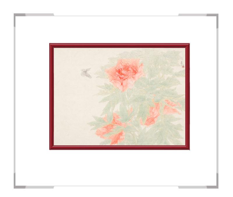 中国美术家协会会员张合红-牡丹六横幅花鸟画