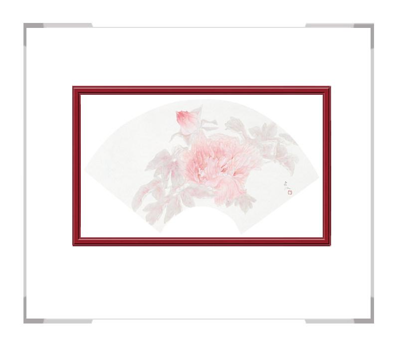 中国美术家协会会员张合红-扇面花鸟画逸韵凝香之一