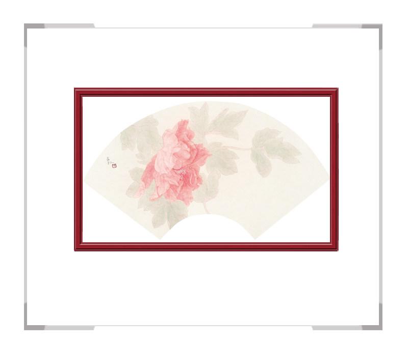 中国美术家协会会员张合红-扇面花鸟画逸韵凝香之二