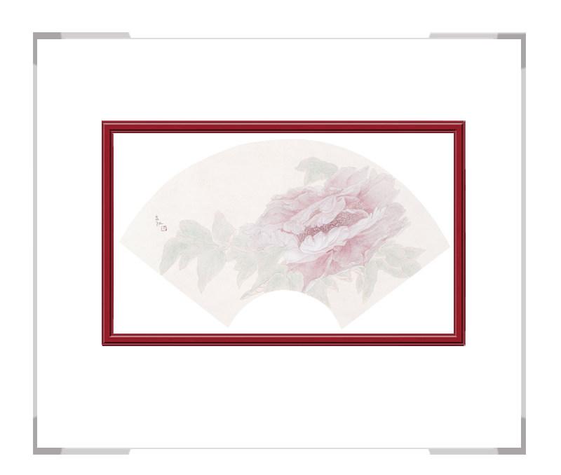 中国美术家协会会员张合红作品-逸韵凝香扇面花鸟之三