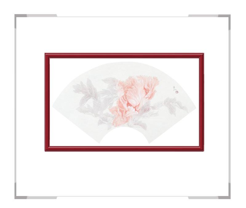 中国美术家协会会员张合红作品-逸韵凝香扇面花鸟之六