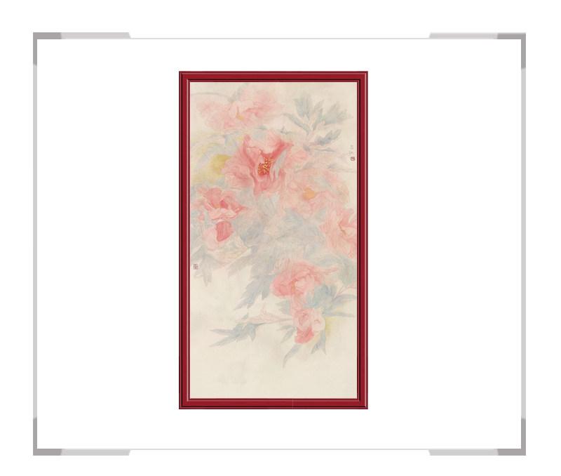 中国美术家协会会员张合红-花鸟竖幅牡丹系列二