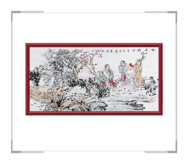 中国美术家协会会员张鸿君-横幅人物画