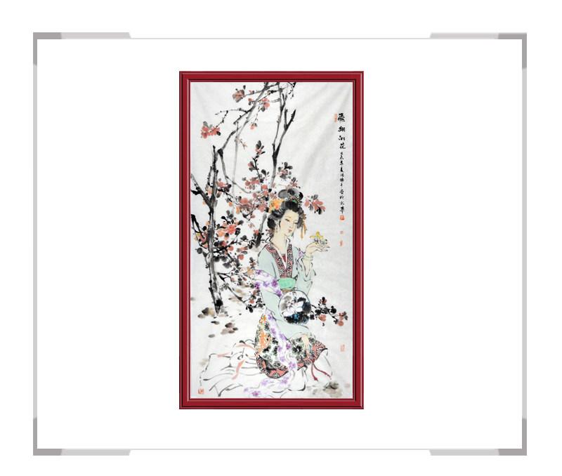 中国美术家协会会员张怀月-竖幅美女人物画第一款