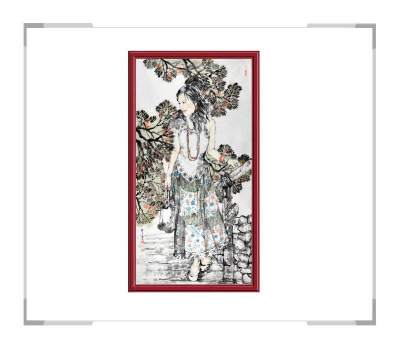 中国美术家协会会员张怀月-竖幅美女人物画第二款
