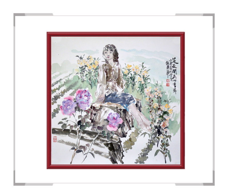 中国美术家协会会员张丽华-斗方人物画第一款