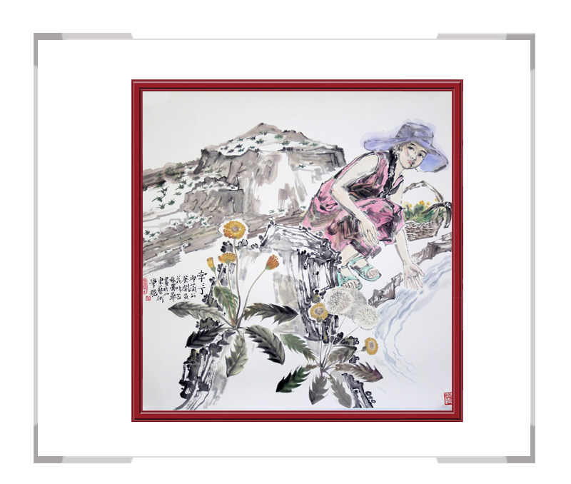 中国美术家协会会员张丽华-斗方人物画第三款