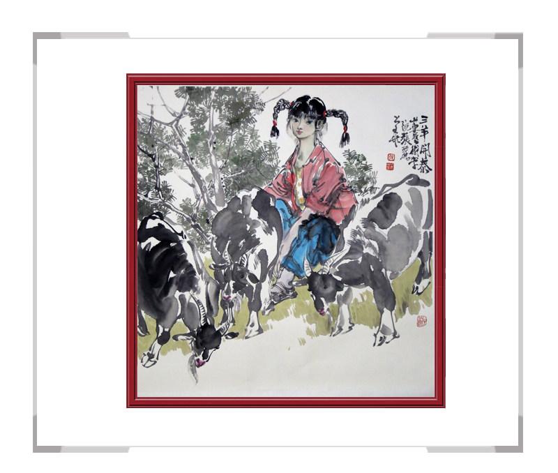 中国美术家协会会员画家张丽华作品-斗方人物画一