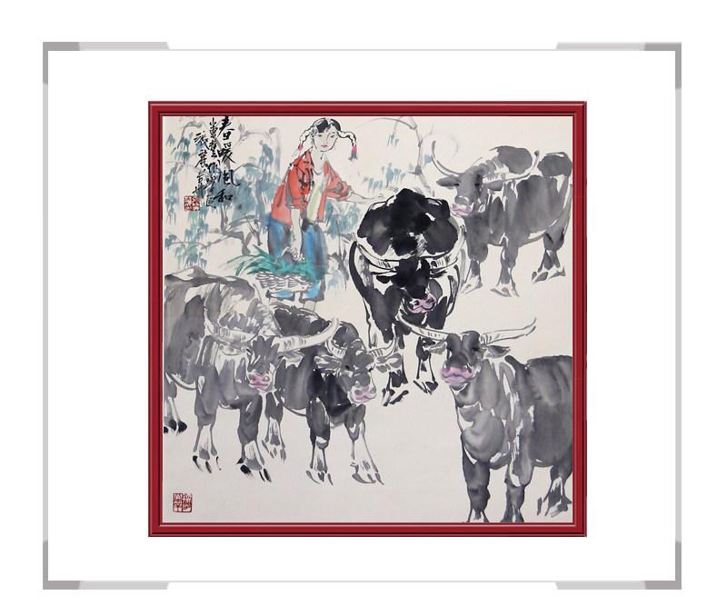 中国美术家协会会员张丽华作品-美女人物画第三款