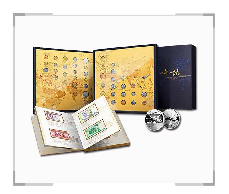 中国金币《一带一路》纪念册 35g银章*2枚