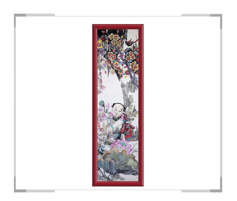 中国美术家协会会员张丽华作品-竖幅民俗画第二款